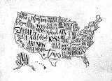 Map USA vintage