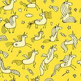 Magic unicorns, seamless pattern for your design