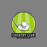 Logo for the golf club