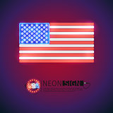 Neon Sign USA Flag