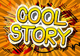 Cool Story - Comic book style word