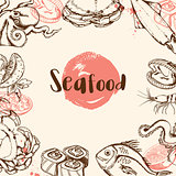 Vintage seafood menu