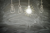 idea concept with light bulb