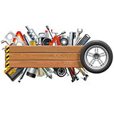Vector Board with Wheel and Car Spares