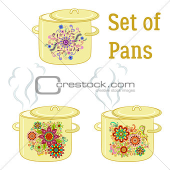 Boiling Pans with Patterns