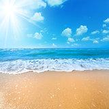 Sunny Summer day on the Sea Beach