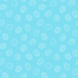 Easter eggs seamless pattern in doodle style. Hand drawn vector illustration.