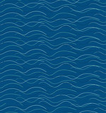 Abstract hand drawn waves pattern