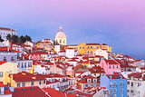 Alfama at night, Lisbon, Portugal
