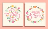 Set of Happy Mother's day cards.