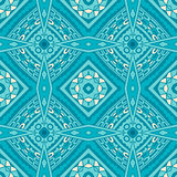 geometric seamless blue mosaic background