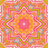 ethnic geometric seamless tribal pattern