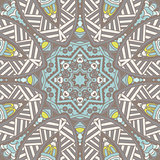 Abstract folk ethnic geometrical seamless pattern ornament