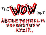 The Wow Font - Comic book, cartoon style alphabet.
