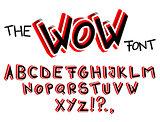 The Wow Font - Comic book, cartoon style alphabet.