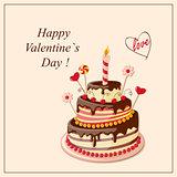 Valentine cake frame