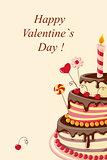 Valentine cake big