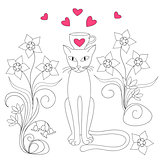 elegance cat with love