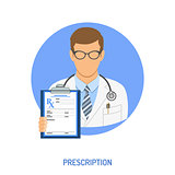 medical prescription concept