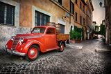 Red car in Trastevere