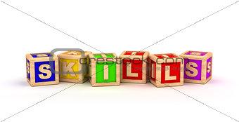 Skills Text Cube