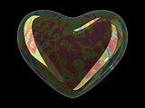 Heart shaped soap bubble