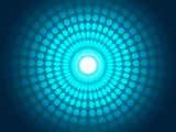 Abstract blue background of light glowing circles