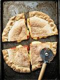 rustic italian calzone stuffed pizza