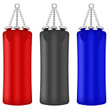 Set of Colorful Boxing Bags