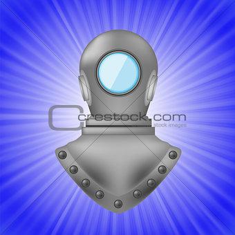 Old Metal Diving Helmet