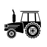 Tractor Silhouette Icon