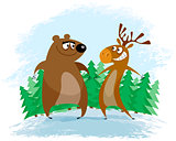 Bear and elk