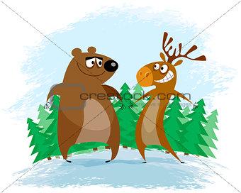 Bear and elk