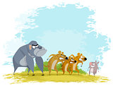 Five funny animals