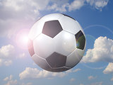 soccer ball against the sky