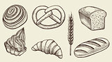 Bread vector set