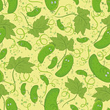 Seamless background, cucumbers