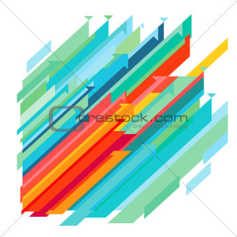 Abstract colorful direction up, illustration
