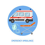 medical emergency ambulance concept