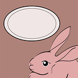 Easter Rabbit animal frame text.