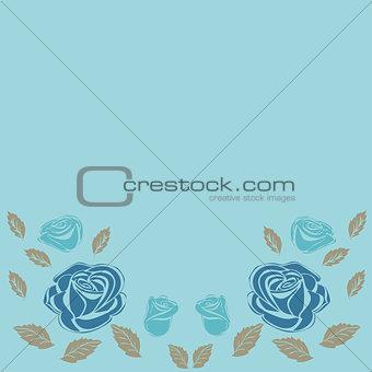 Greeting card roses wedding birthday holiday background.