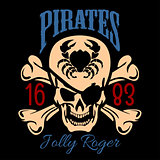 Vintage Nautical Labels or Design Elements With Retro Elements and Typography. Pirates, Harpoons, Mermaid, Sailfish, etc. Fits Perfect for a T-shirt Design, Logos so on. Isolated Vector Illustration.