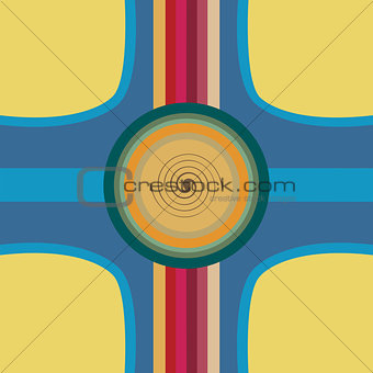 Abstract design background withcurves and circles