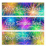 Color Tags with Fireworks, Set