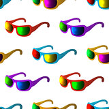 Sunglasses, seamless background