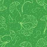 Pictogram Leaves, Seamless