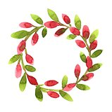 Wreath with pink buds