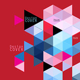 Geometric background Template for covers