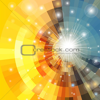 Abstract vector sunrise circle