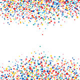 Vector colorful round confetti splash